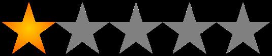 Valoración 1 estrellas