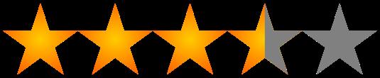 Valoración 3,5 estrellas