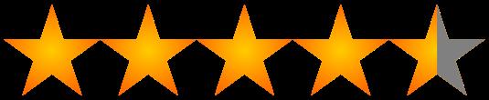 Valoración 4.5 estrellas