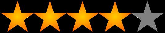 Valoración 4 estrellas