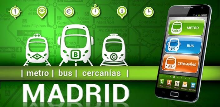 Imagen baner de la aplicación Madrid metro, bus y cercanías