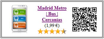 Ficha de la aplicacion Madrid metro, bus y cercanías sin publicidad
