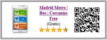 Ficha de la aplicacion Madrid metro, bus y cercanías gratis