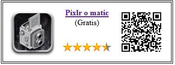 Ficha de la aplicación de fotografia Pixlr o matic