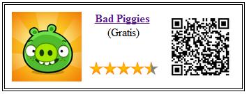 Ficha de la aplicación de juego Bad Piggies