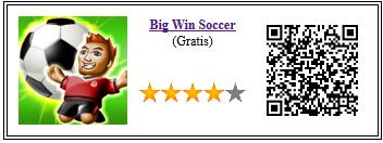 Ficha de la aplicación de juego big win soccer