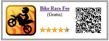 Ficha de la aplicación de juego bike race free