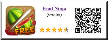 Ficha de la aplicación de juego fruit ninja
