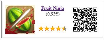 Ficha de la aplicación de juego fruit ninja pago