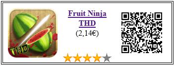 Ficha de la aplicación de juego fruit ninja pago THD
