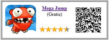 Ficha de la aplicación de juego mega jump