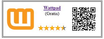 Ficha de la aplicación de libro wattpad