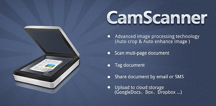 Imagen baner de la aplicacion de fotografia camscanner
