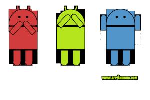 Logotipo e imagen identificativa de aplicaciones android, sordo ciego mudo, monos sabiduria