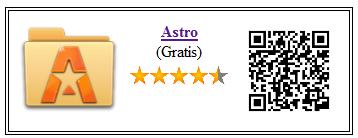 Ficha qr de astro: adminstrador de archivos
