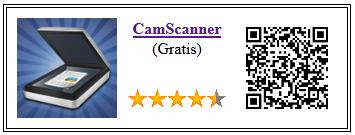 Ficha de la aplicación de fotografia camscanner gratis
