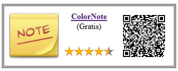 Ficha qr de aplicacion de servicios ColorNote