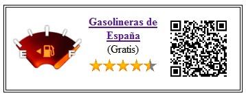 Ficha de la aplicación de viajes Gasolineras España