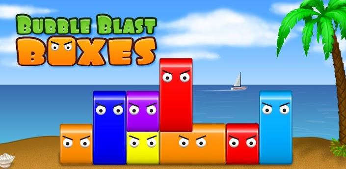 Imagen baner de la aplicacion de juego Bubble Blast Boxes