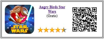 Ficha qr de aplicacion de juego Angry Birds Star Wars
