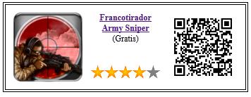 Ficha qr de aplicacion de juego Francotirador Army Sniper