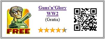 Ficha qr de aplicacion de juego Glory n gun WW2 free