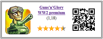 Ficha qr de aplicacion de juego Glory n gun WW2 premium