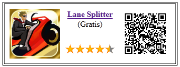 Ficha qr de aplicacion de juego Lane Splitter