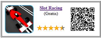 Ficha qr de aplicacion de juego Slot Racing