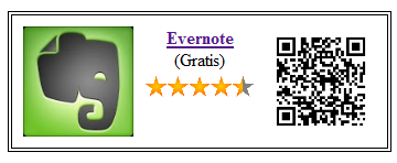 Codigo qr del Evernote