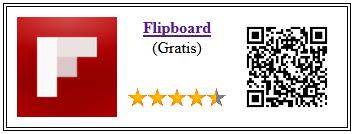 Ficha qr de aplicacion de servicio Flipboard