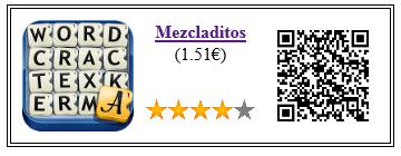 Ficha qr de aplicacion de juego Mezcladitos Pago