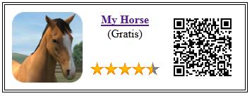 Ficha qr de aplicacion de juego My Horse