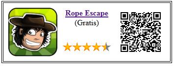 Ficha qr de aplicacion de juego Rope Escape