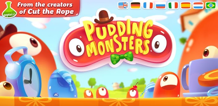 Imagen baner de la aplicacion de juego Pudding Monsters