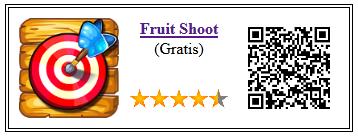 Ficha qr de aplicacion de juego Fruit Shoot