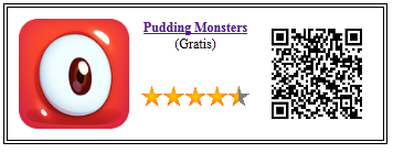 Ficha qr de aplicacion de juego Pudding Monsters