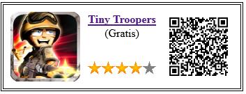 Ficha qr de aplicacion de juego Tiny Troopers