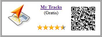 Ficha qr de aplicacion My Tracks