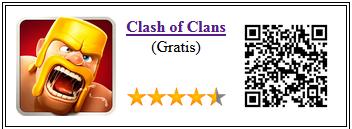 Ficha qr del juego Clash of Clans para Android